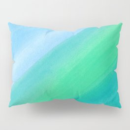 Pastel Blue and Teal Watercolor  Pillow Sham