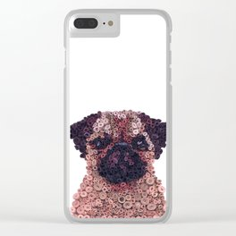 PUG- Hand-Rolled Paper Art Clear iPhone Case