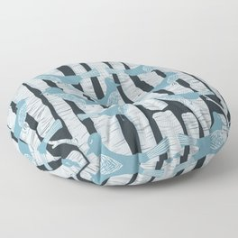 For the Birds and Birch Trees Floor Pillow