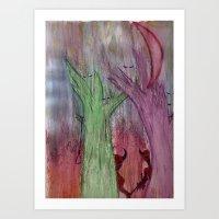 devils woods Art Print