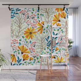Spring Foral Pattern Wall Mural