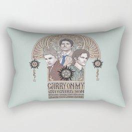 Carry On My Wayward Son (Castiel, Sam and Dean Winchester) Rectangular Pillow