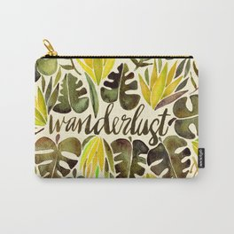 Tropical Wanderlust – Yellow & Olive Palette Carry-All Pouch