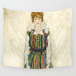 "Egon Schiele ""Portrait of Edith Schiele, the artist's wife"" (1915) Wall Tapestry"