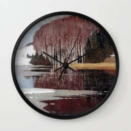 Spring Waters by Vilhelms Purvītis - Latvian Lettish Fine Art - Purvitis Wall Clock