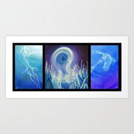 Tesseractic Triptych Art Print