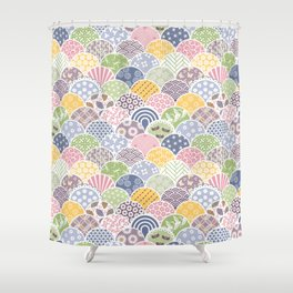 Spring Scales Shower Curtain