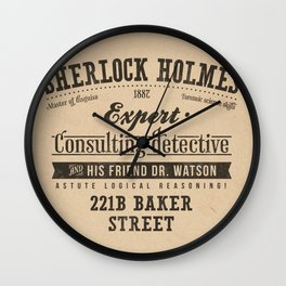 Sherlock Holmes -Consulting Detective- Wall Clock