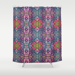 Fractal Art Stained Glass G311 Shower Curtain