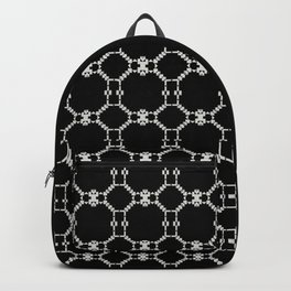 INSOMNIA black and white minimalist abstract pattern Backpack