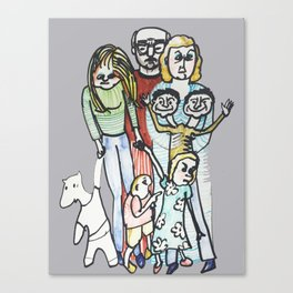 Weird Family Canvas Print
