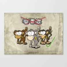 Protest Monkeys Canvas Print