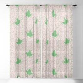 Ivies & Pearls Sheer Curtain