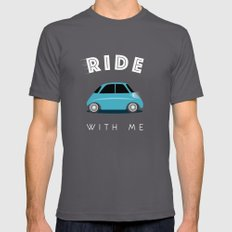 Ride with me SMALL Asphalt Mens Fitted Tee