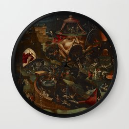 CHRIST IN LIMBO - HIERONYMUS BOSCH  Wall Clock