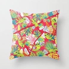 Drunken Sloths Throw Pillow