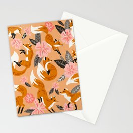 Foxes & Blooms – Melon Palette Stationery Cards