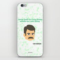 swanson iPhone & iPod Skins featuring Swanson by tukylampkin