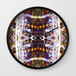 Light Dance Kaleidoscope edit 3 Wall Clock