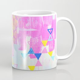 Abstract Mix - Lemon Yellow, Magenta & Turquoise Coffee Mug