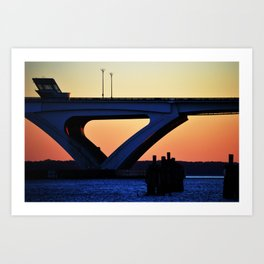 Connect the States Art Print