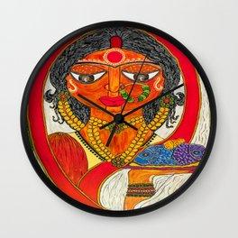 East Indian Bengali Bride Wall Clock