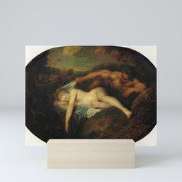 Antoine Watteau - Nymph and Satyr Mini Art Print