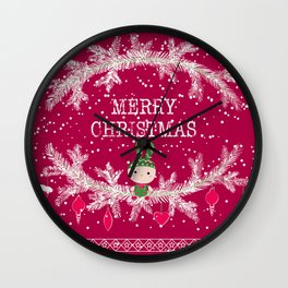Merry christmas and happy new year 12 Wall Clock