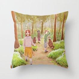 Winter's gone Throw Pillow