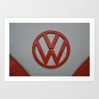 volkswagen Art Prints featuring VOLKSWAGEN by OSSUMphotos