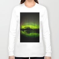 northern lights Long Sleeve T-shirts featuring The Northern Lights by Nirupam Nigam