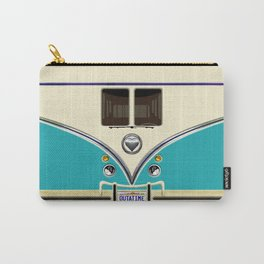 Blue teal minibus lovebug iPhone 4 4s 5 5c 6 7, pillow case, mugs and tshirt Carry-All Pouch