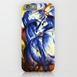 The Tower of Blue Horses by Franz Marc iPhone Case