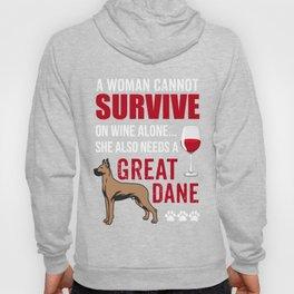 Costume For Great Dane Dog Lover. Shirt For Mom/Grandma. Hoody