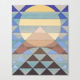 Pyramid Sun Turquoise Canvas Print