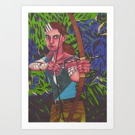 Lara on Fire Art Print