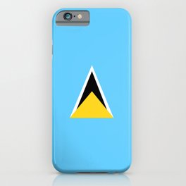 Saint Lucia country flag iPhone Case