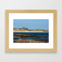 Bamburgh Castle Beach Framed Art Print