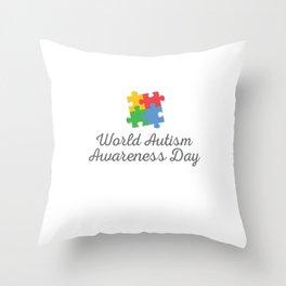 World Autism Awareness Day Throw Pillow