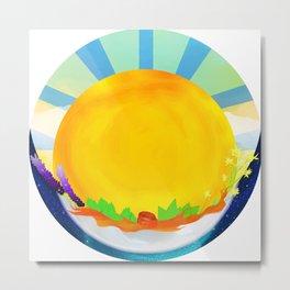 Wheel Series : Summer Solstice Medallion Metal Print