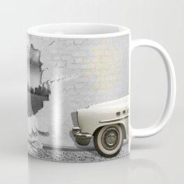 Weather change on the wall, with pin-up girl Coffee Mug