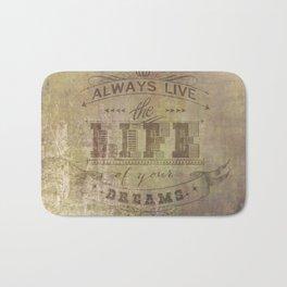 live life Bath Mat