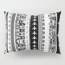 vertical pattern stripes grey black Pillow Sham