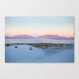 Morning at White Sands, New Mexico Canvas Print