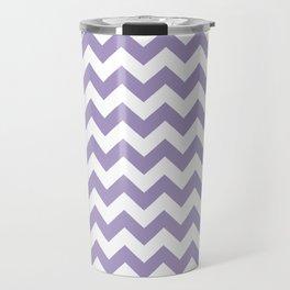 Lavender Chevron Print Travel Mug