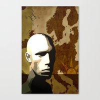travel poster Canvas Prints featuring Travel Poster by ben_biddiscombe