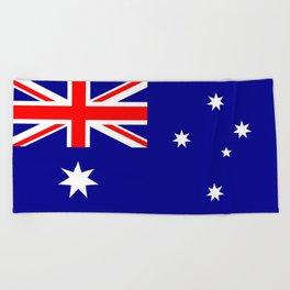 The Flag of Australia Beach Towel