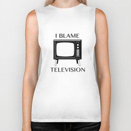 I Blame Television Biker Tank