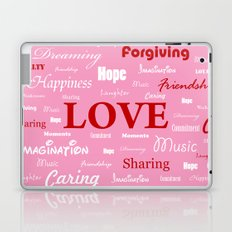 Love is a Strawberry Ice Cream Laptop & iPad Skin