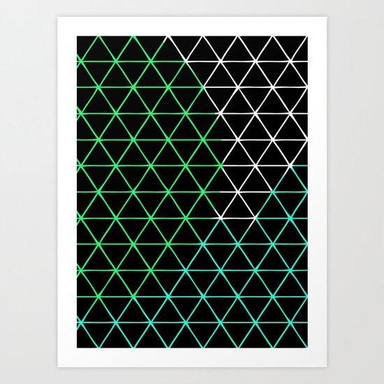Colored Triangels  Art Print